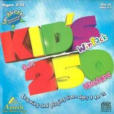 Kid's WinPack: Over 250 Programs PC CD art English math science logic games 3-12