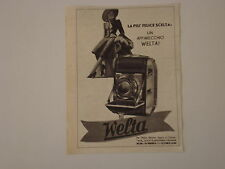 advertising Pubblicità 1940 MACCHINA FOTOGRAFICA WELTA WELTINI
