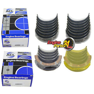 FORD 302 351 CLEVELAND MAIN & CONROD BEARINGS ACL 8B2106 5M2107 IN STD 010 020