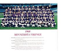 1968 MINNESOTA VIKINGS 8X10 TEAM PHOTO KAPP ELLER PAGE  FOOTBALL NFL AFL
