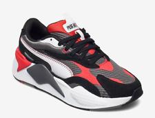 Puma RS-X3 Twill AirMesh Unisex Lifestyle Trainers Grey/Red/Black UK 7 (EU 40.5)
