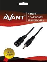 Cable Adaptador Audio - Jack Macho A Jack Hembra Ø 3,5 mm Estereo - 1,8 Metros -