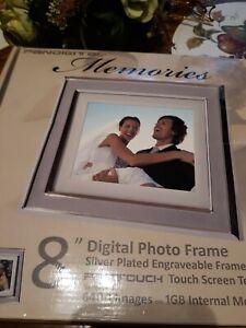 "PANDIGITAL 8"" LCD Digital Photo Frame w/Pantouch 1GB Internal Memory NEW"