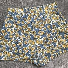 Vtg 80s 90s Stonegear High Waisted Mom Jean Shorts Floral Sunflower S M
