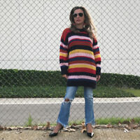 Zara Striped Jumper Mohair Size M