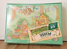 Vintage Hallmark Woodland Animals 48 Piece Jigsaw Puzzle w/ Carrying Case NEW