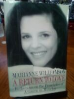 A RETURN TO LOVE Marianne Williamson hcdj 1992 1st 4th prtg
