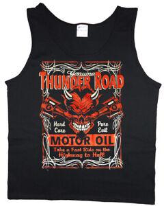 On Sale: LARGE Men's Tank top - Biker Design Mens Clothing Tanks Sleeveless Tee