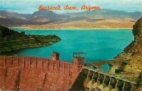 Chrome Postcard AZ K201 Roosevelt Dam on Salt River Valley Apache Trail Petley