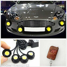 4in1 Eagle Eye White LED 12V Car SUV Strobe Lights Fog Lamps Remote Control Kit