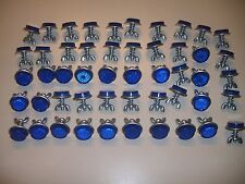 "50 Blue Goliath Tool Mini Bicycle Reflectors 7/8"" Diameter with Wing nuts"