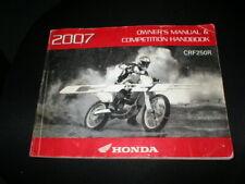 31KRN650 2009 Honda CRF250R Motorcycle Owners Manual /& Competition Handbook