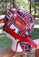 St. Louis Cardinals Baseball  DU RAG SKULL CAP BANDANA BIKER CHEMO CAP