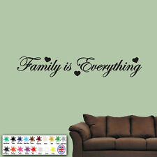 """""""Family is Everything"""" Wall Sticker - Vinyl Art Quote - Decal Bedroom Words Love"""