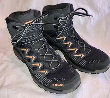 Lowa Innox Pro Mid Hiking Boots Graphite and Orange Size 12          GR0497