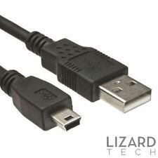 1 M Metro USB 2.0 A a Mini B 5 Pin Cargador Cable Negro-PS3 + PSP Compatible