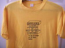 Vintage 80s AATSP T Shirt M Indiana The American Association Teachers of Spanish