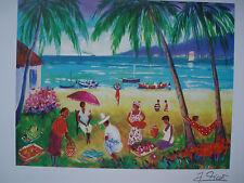 Jean-Claude Picot seriograph-la plage de la Saline