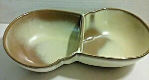FRANKOMA POTTERY Desert Gold DIVIDED LAZYBONES BOWL 4QD Art Pottery