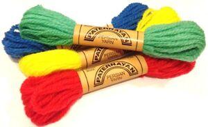 99 COLORS Paternayan Persian wool Yarn 8 yards 3-ply needlepoint #100 thru #645