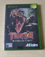 TUROK EVOLUTION XBOX NUOVO NEW PAL UK  ITALIANO INCLUSO RARO SIGILLATO SEALED