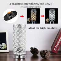 Crystal Table Lamps Desk Lamp Night Light Bedside Lighting Nightstand Bedroom US