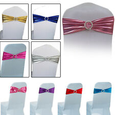 1-100 Elasticity Shiny Chair Cover Bands with Buckle Slider Wedding Decor Party