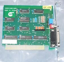 Turbo Game Card for PC XT 8-bit ISA vintage 1980s computer