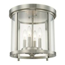 Capital Lighting 4 Light Ceiling, Brushed Nickel, Clear Glass - 214141BN