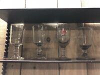 Lot de 4 Verres Soufflé a Absinthe Ancien XIXeme Antique French Glass