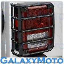 07-16 2016 Jeep JK Wrangler Rubicon Black Metal Euro Taillight Lamp Guard Cover
