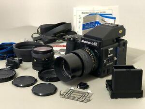 Mamiya 645 Super Medium Format SLR Camera, 2 lenses, case and accessories MINT
