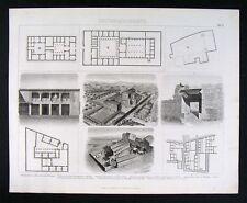 1874 Bilder Print Ancient Greek Architecture House Plans & Farm Estate Views