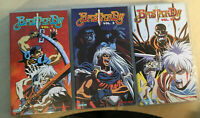 VHS YAMATO VIDEO MANGA FANTASY-BASTARD 1,2,3 SERIE COMPLETA ANIME INEDITO IN DVD