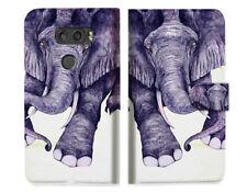Elephant Wallet Case Cover For LG V30 V30+ - A007