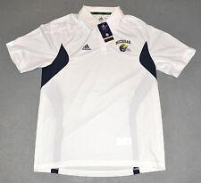 """NWT Adidas® Mens """"MICHIGAN WOLVERINES"""" U-M Football Helmet Sideline Polo Shirt M"""