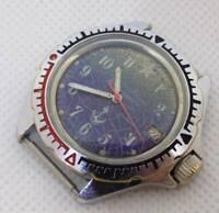 Vostok Komandirskie wrist watch Military Origianl Russian USSR submarine on dial