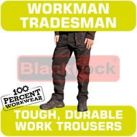 Tradesman Workman Quality Hard Wearing Cargo Combat Work Trousers Knee Pockets