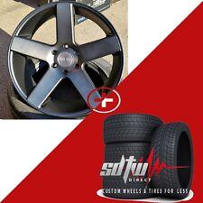 "22"" Dub Baller S116 Black DDT Wheels w Tires fits Chevy GMC 1500 Yukon Ford F150"