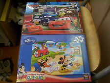 2 DISNEY JIGSAW PUZZLES CHILDRENS NEW & SEALED MICKEY MOUSE CARS KING FREEPOST