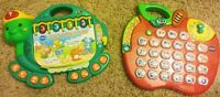 V Tech Learning Toy Bundle-Touch & Teach Turtle and Alphabet Apple