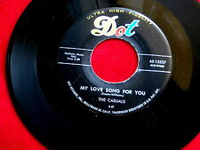 CASUALS~MY LOVE SONG FOR YOU~NEAR MINT~HELP ME~DOT 15557~ DOO WOP 45