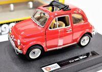 MODELO AUTO FIAT 500 L ESCALA 1:24 COCHE MODELO MINIATURAS DIECAST BURAGO SOLIDO