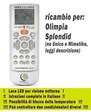 Telecomando per condizionatore climatizzatore Olimpia Splendid aria condizionata