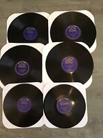 Victor Blue Label 78rpm Records Lot Of 6 Harry Lauder