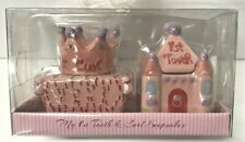 D2Baby Essentials My first tooth and Curl Keepsake Set Castle and Crown Pink New