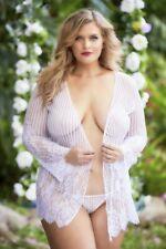 Women's Lingerie Robe + G-String Plus Size Bridal Luna Oh la la Cheri