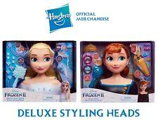 Frozen 2 Styling Head DELUXE version 18 pieces. Elsa Anna The Snow Queen Xmas