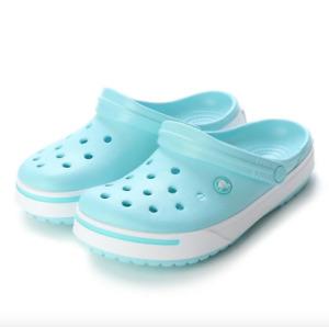 Crocs CrocBand II Ice Blue White Clogs 11989 4JA - SIZE 8 WOMENS / 6 MENS