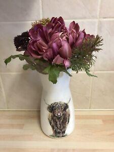 Highland Cow Vase -  20cm Vase - Highland Cow Gifts - Scottish Cow